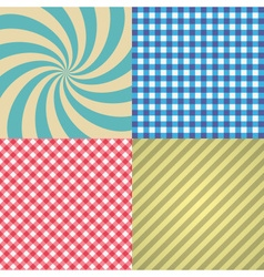 Four types of retro texture and patterns eps10 vector