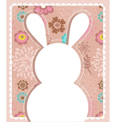 Easter greeting card with bunny vector