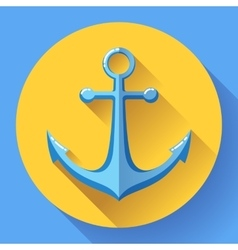 Anchor text icon  flat design vector