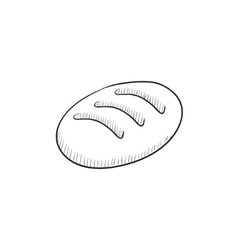 Loaf sketch icon vector