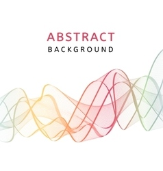 Abstract smooth transparent colorful background vector image