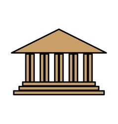 Academic building icon vector