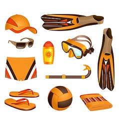 beach accessories for man vector image vector image