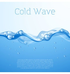 Blue water with bubbles vector image