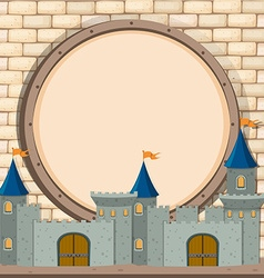 Border design with castle vector