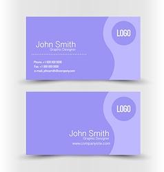 Business card set template purple color vector