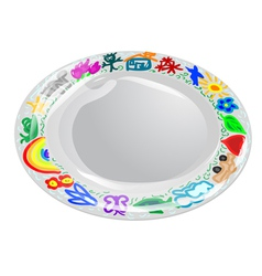Child plate vector