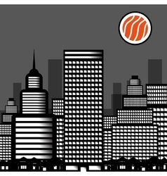 city sushi vector image