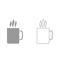 cup with hot drink it is icon vector image
