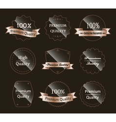 Glass labels vector image vector image