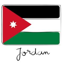 Jordan flag doodle vector image
