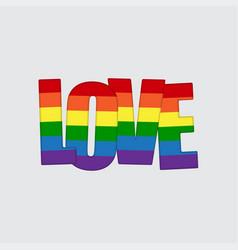 lgbt pride flag heart rainbow pride symbol love vector image