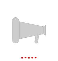 loud speaker or megaphone it is icon vector image
