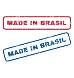 Made in brasil rubber stamps vector