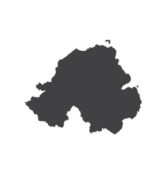 Nothern ireland map silhouette vector