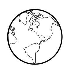 Plane earth vector