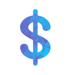 polygon blue icon dollar vector image vector image