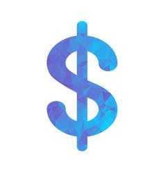 polygon blue icon dollar vector image