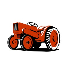 Red Tractor vector image vector image