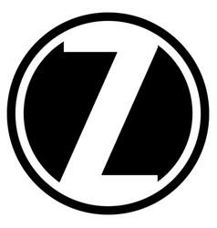 Round z logo vector