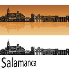 Salamanca skyline in orange vector image