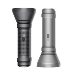 Set of two flashlights vector