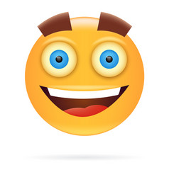 smiley character design icon style happy face vector image