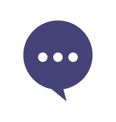 speech bubble chat isolated icon vector image vector image