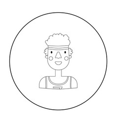 Sportsman icon in outline style isolated on white vector