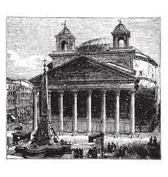 the pantheon at rome as a temple to all the gods vector image vector image