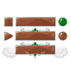 Title wood banners vector