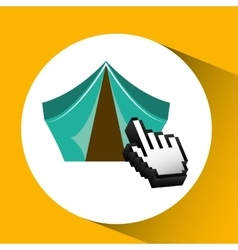 Traveling concept technology camping design vector