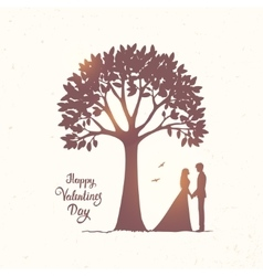 tree and couple vector image
