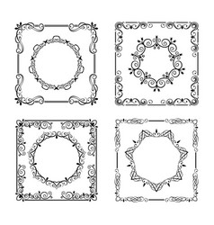 vintage frames borders vector image vector image