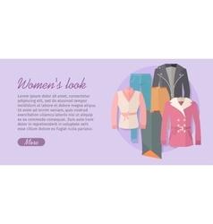 Womens look concept in flat design vector