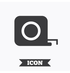 Roulette construction icon tape measure symbol vector