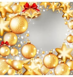 Red and gold christmas background EPS 10 vector image
