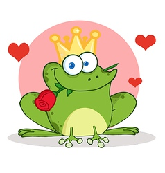 Valentines frog cartoon vector