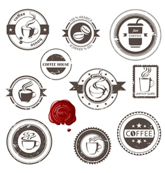 Coffee stamps set vector