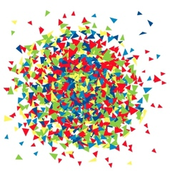 The background of the scattered triangles vector
