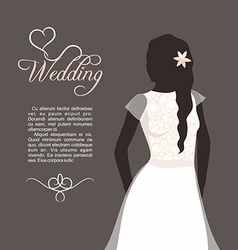 Lovely bride female in wedding dress design vector image