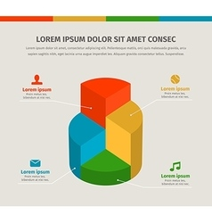 3d infographics chart for presentation vector image vector image