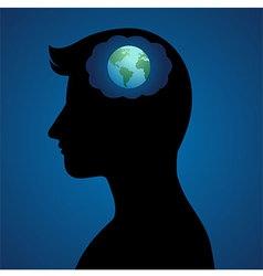 World Thinker vector image