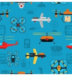 Drones seamless background vector