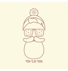 Christmas Card of Santa vector image