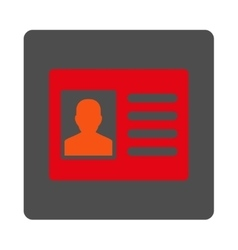 Client account rounded square button vector
