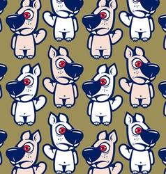 cartoon squirrel character background vector image