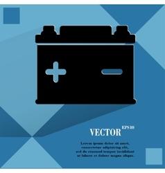 Car battery Flat modern web button on a flat vector image
