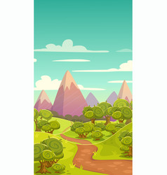 Cartoon vertical nature landscape vector