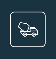 cement vehicle outline symbol premium quality vector image vector image
